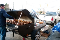 Grill on wheels
